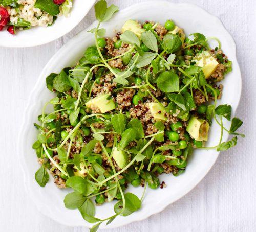 рецепт салат из киноа гороха и авокадо пошаговая инструкция фото